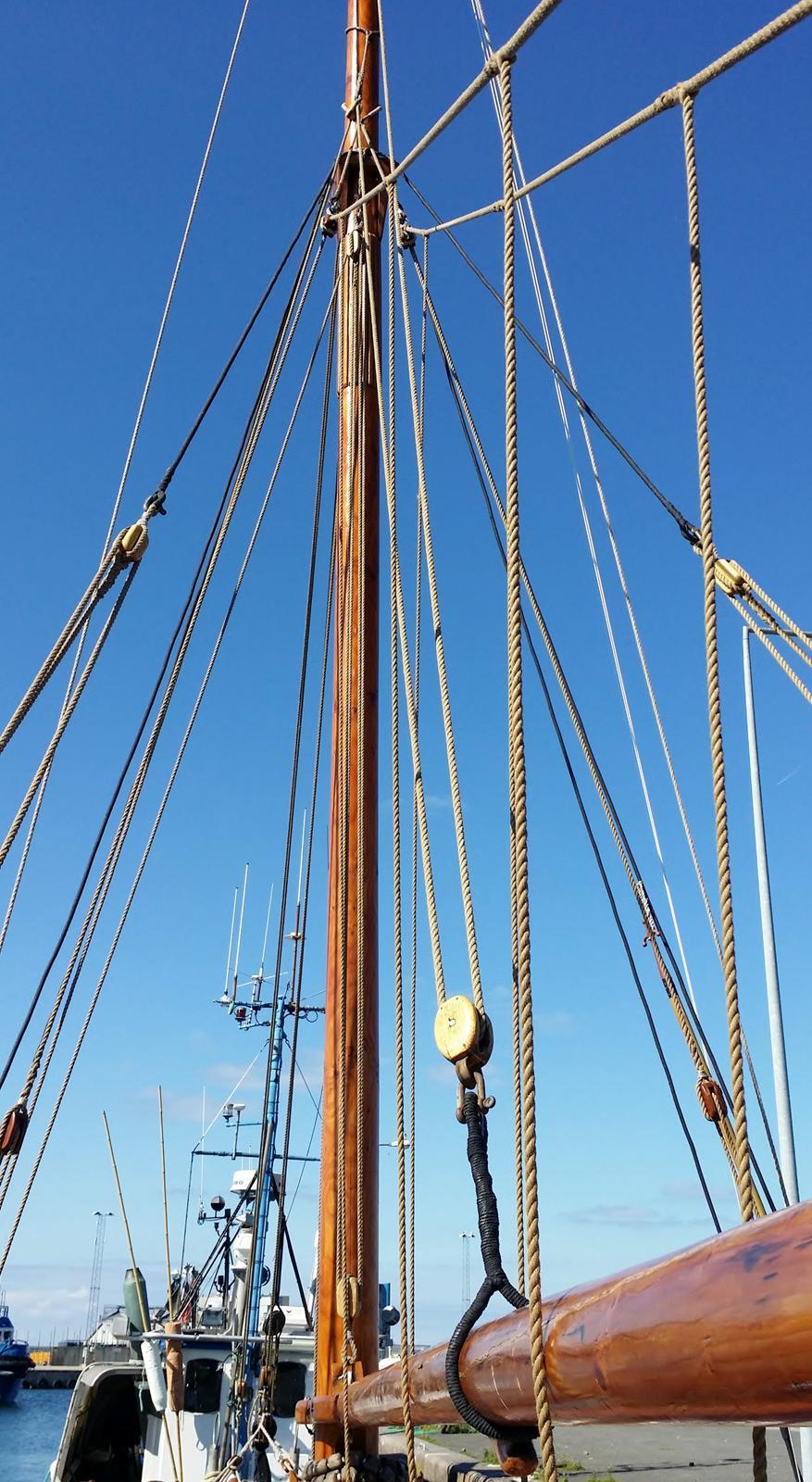 Spidsgatter Damkutter ( Tidl. båd ) - Der findes ikke mange master uden jernbeslag billede 14