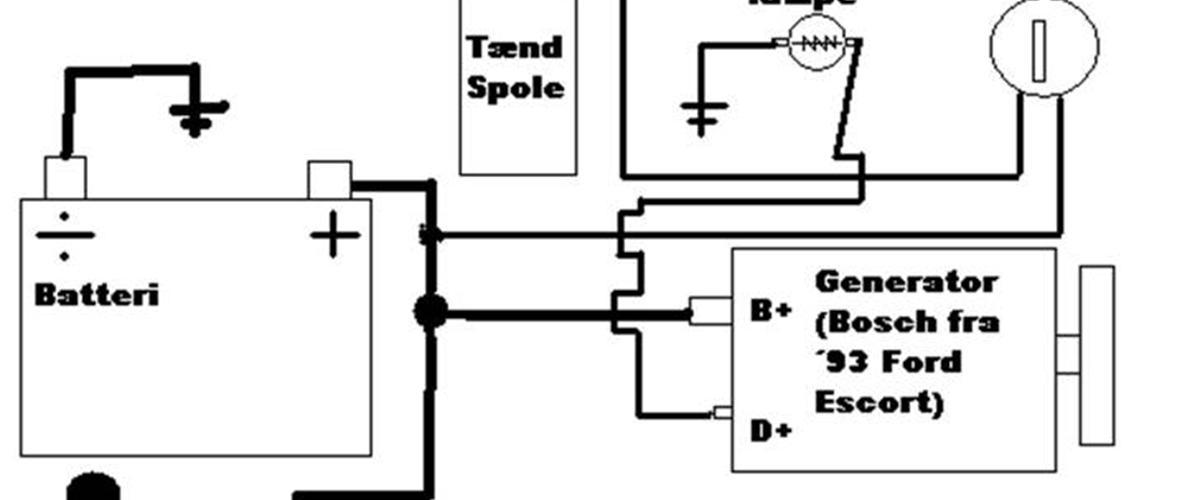 tilslutning af 12v generator