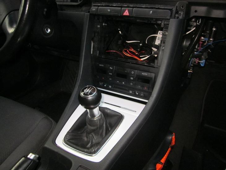 Audi a4 b6 1din til 2 din ramme bilstereoprojekter for Mueble 2 din audi a4 b6