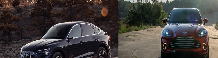 Aston Martin DBX og Audi E-Tron Sportsback