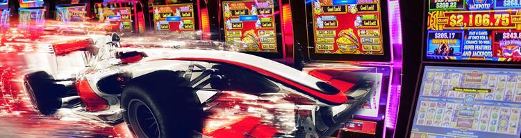 Spilleautomater inspireret af racing med formel 1
