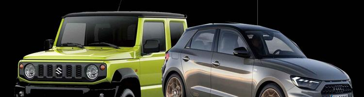 Audi A1- sportslig minibil og Suzuki Jimny!