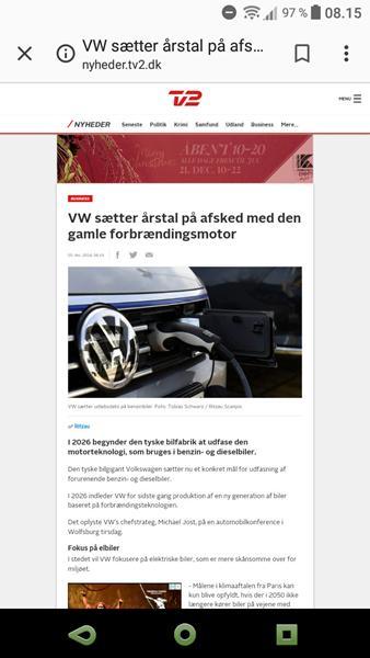vw stopper produktion af diesel og benzin biler