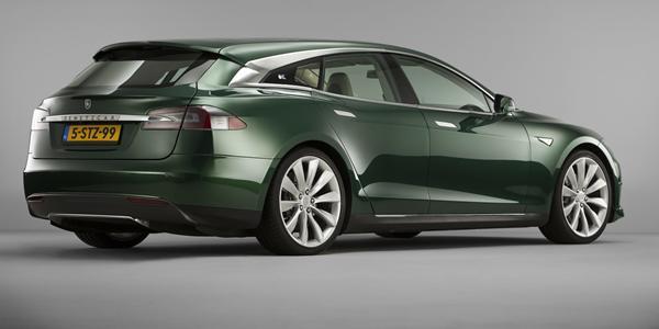 Når nu Tesla ikke gider lave en stationcar, så må man jo selv igang :)