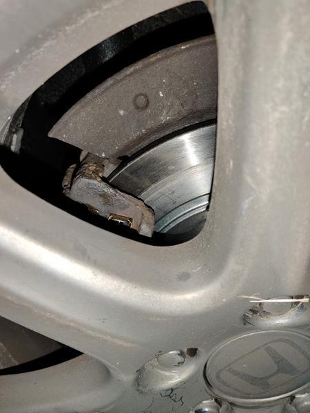ujævn slid på bremseskive efter skift
