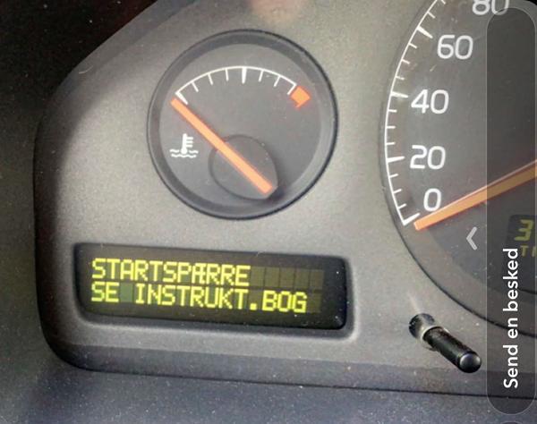 Volvo v70 - Startspærre se instruktionsbog
