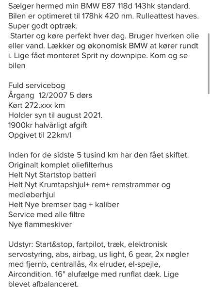 Køb af bmw 118d