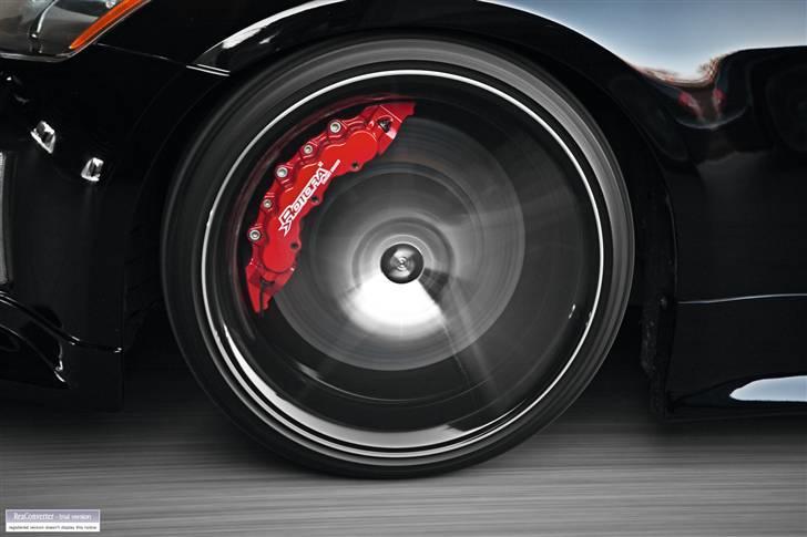"""Nissan 350Z - Black Thunder - IN ACTION! Rotora Big Brake Kit - custom made! 12-stemplede kalibre med 380mm/15"""" skiver. Foto af """"Pyramiden"""": Medio november 2009.  billede 15"""