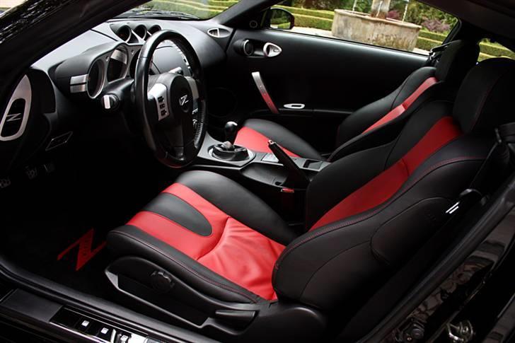 Nissan 350Z - Black Thunder - Foto af S.Lykke: Cockpittet - sæder betrukket i Porsche-læder. billede 17