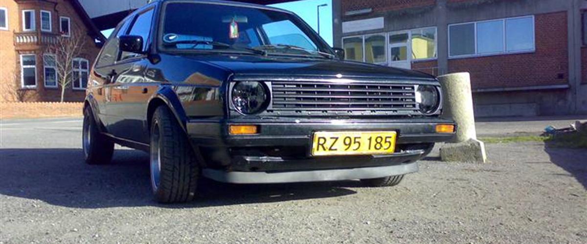 vw golf 2 1 8 gti 1987 byttede bilen til caddyen. Black Bedroom Furniture Sets. Home Design Ideas