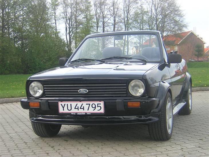ford fiesta mk1 cabriolet 1981 bilen er ombygget af bieber c. Black Bedroom Furniture Sets. Home Design Ideas