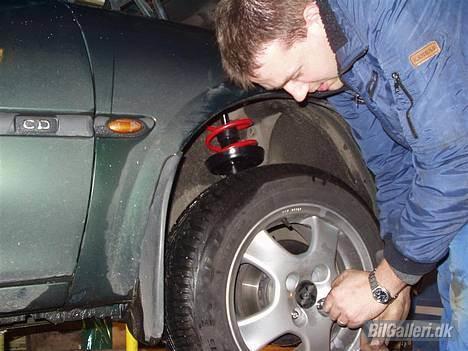 Opel Vectra B Wagon **Solgt** - Og Vinterhjulene monteres igen, nu er de væk !!!  :-( billede 8