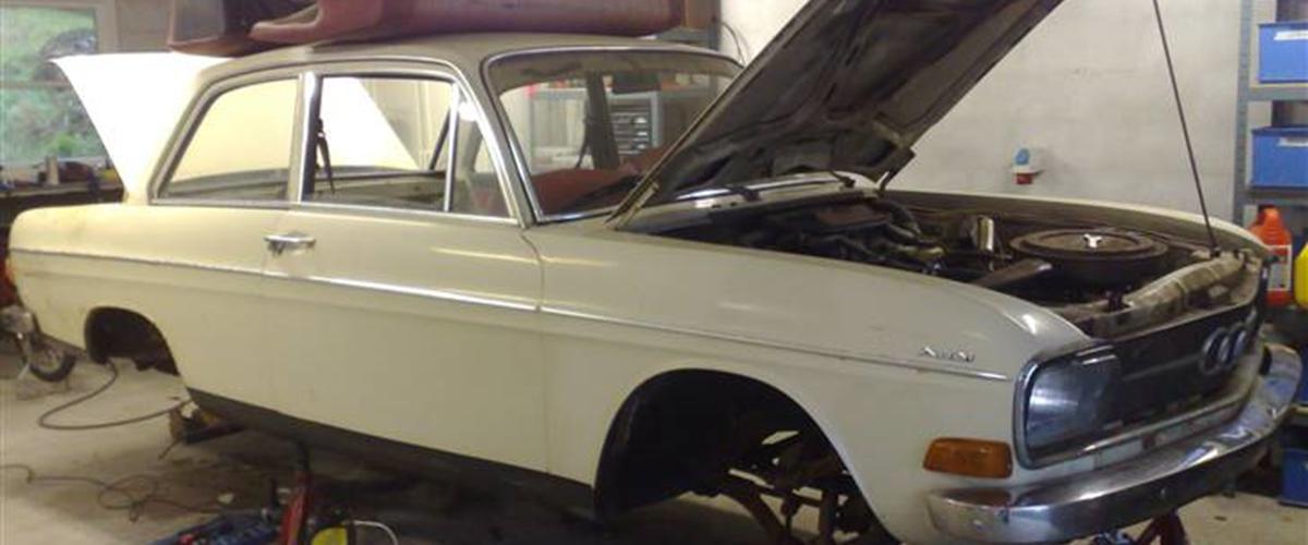 Audi 60 solgt - 1970 - bilen er et projekt og bliver...
