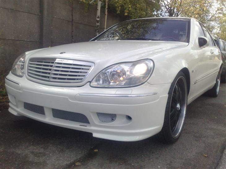 Mercedes benz s 55 amg kleemann solgt 1999 bilen er for Mercedes benz text