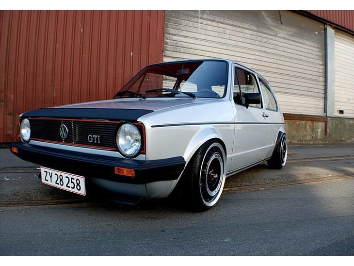 vw golf 1 pirelli gti 1983 bilen er importeret i 2004. Black Bedroom Furniture Sets. Home Design Ideas