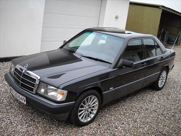 Mercedes benz w201 190e 2 6 baby benz solgt 1989 for Mercedes benz text