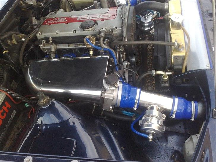 Opel ascona b c20let turbo - hjemme lavet plenium kammer i rustfri billede 18