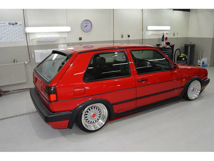 vw golf mk ii airride gti 16v 1990 bilen har en sjov historie og. Black Bedroom Furniture Sets. Home Design Ideas