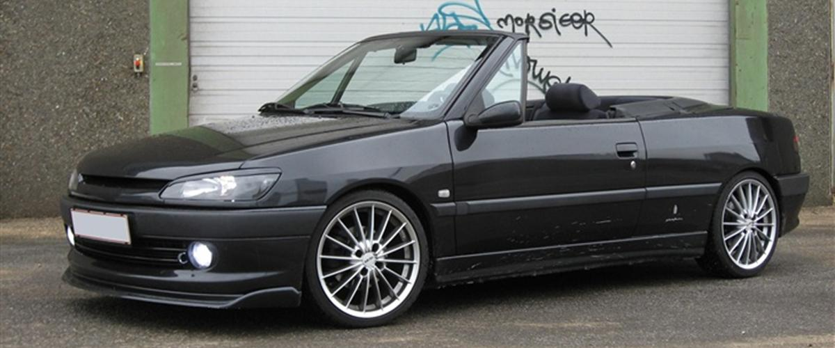 peugeot 306 cabriolet solgt 1997 hentet helt standard 250 km. Black Bedroom Furniture Sets. Home Design Ideas