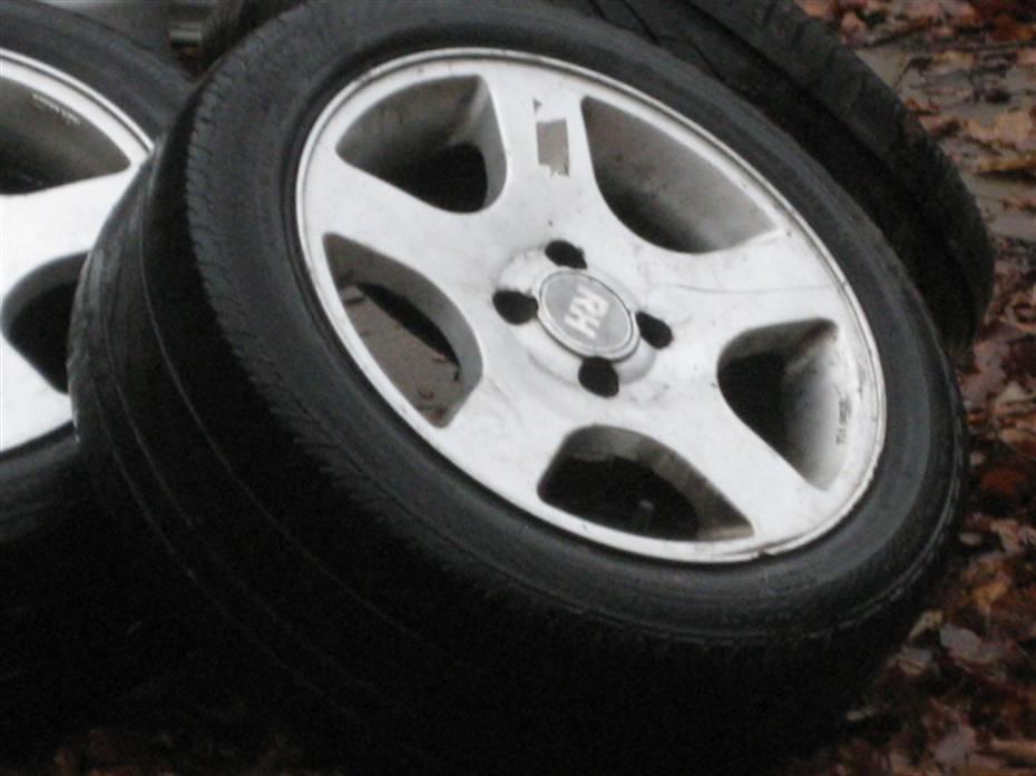 dæk med stålfælge