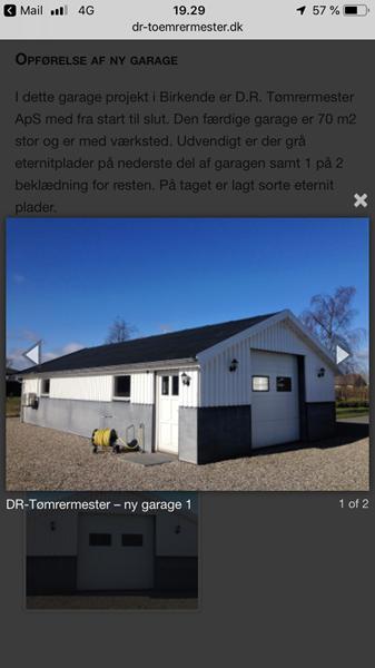 Tegning søges til garage/værksted ca 80m2