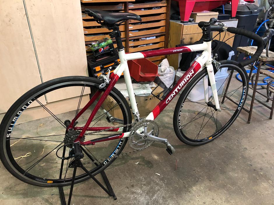 Vintercykel klar efter service
