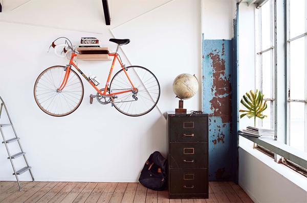 Cykelophæng til væg silvan