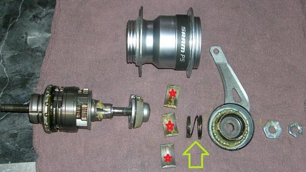 Sram S7 pedal bremse deaktivering