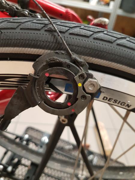 Montering af baghjul - 8gears nexus driller