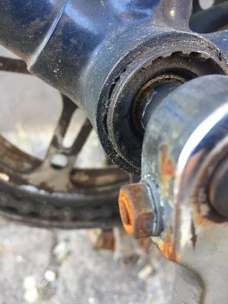 krank på gammel sco cykel