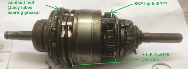 Fedt/smøring af indvendigt gear Spectro S7
