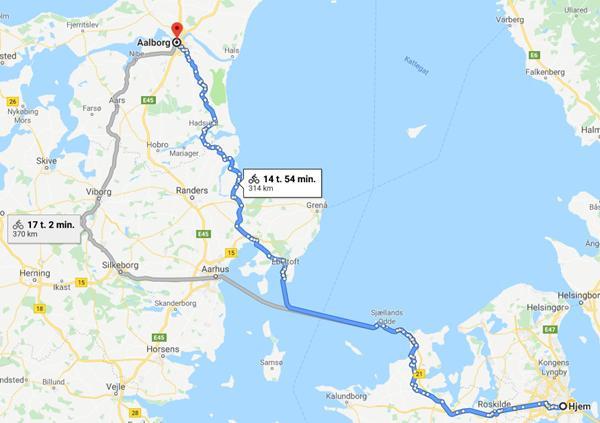 København til Aalborg på to dage