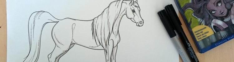 5 tegnemetoder - tegn din hest