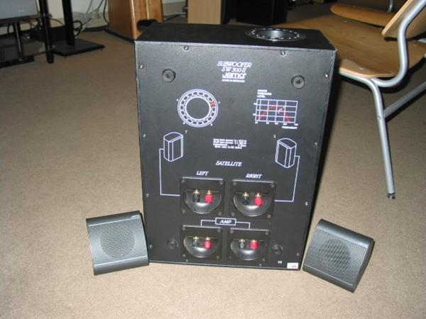 tilslut højttalere og sub til amp