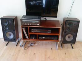 Musikanlæg Technics og Panasonic og B&O