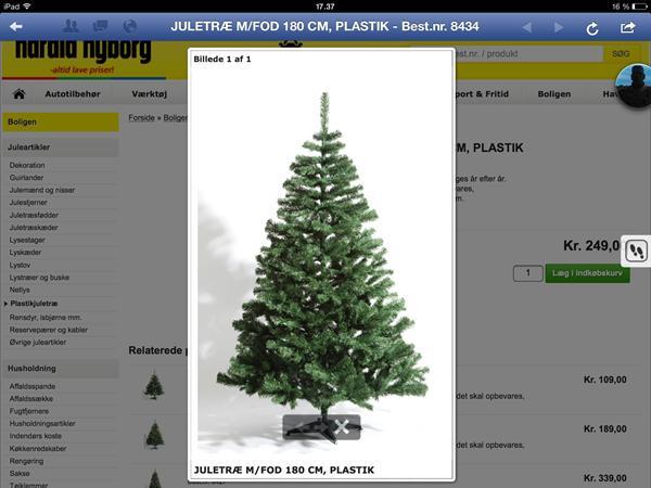 Kunstig juletræ med lys harald nyborg