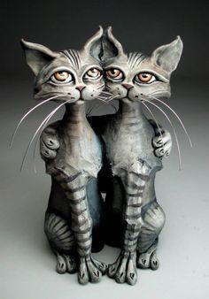 I skal lige se nogle spøjse kattefigurer