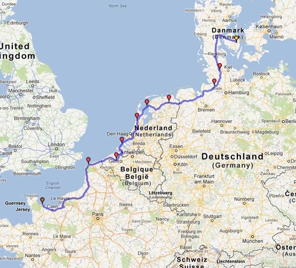 Kort Over Tyskland Og Frankrig Xenos In De Verkoop