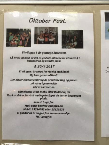 Oktoberfest på Mc Camp Fyn??