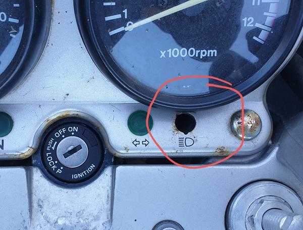 """Fejl på lampe på """"instrumentbræt"""" - problem ved syn?"""