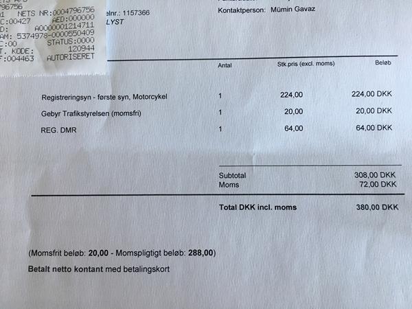 omregistrering af motorcykel