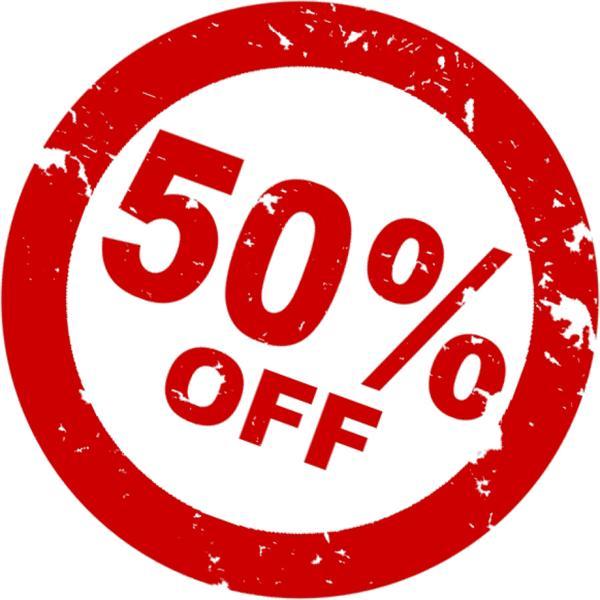 50% på ALT i webshoppen