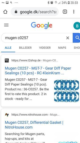 Mugen c0257 pakninger på kraton 6s diff