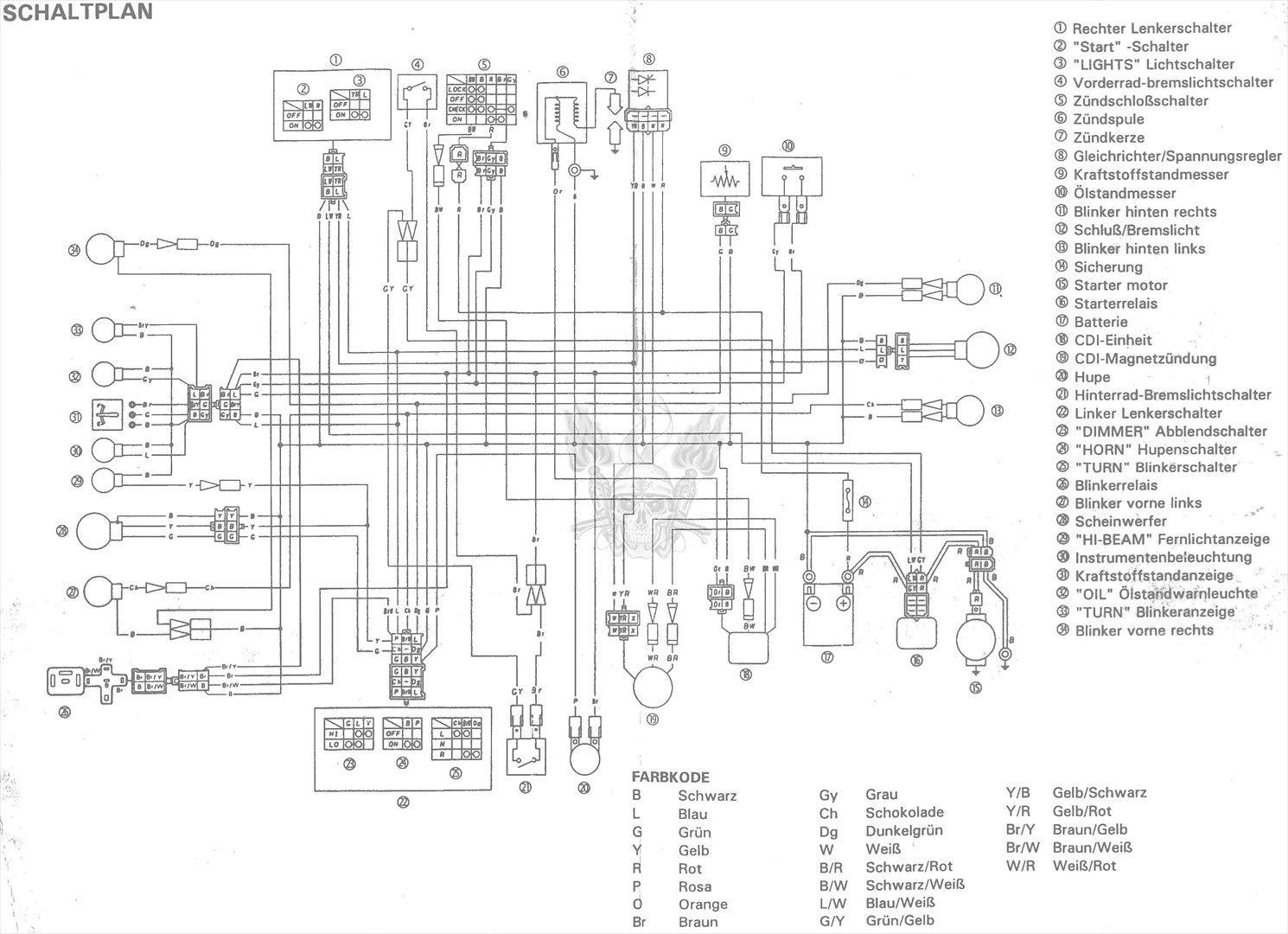 Wiring Diagram Yamaha Jog R : Yamaha jog wiring diagram and schematics