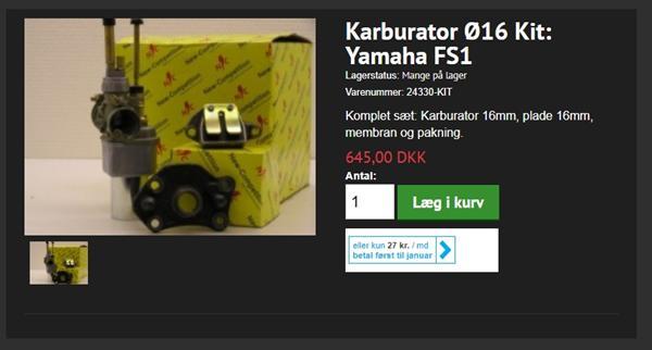 16 mm karburator kit fra mopedspeed.dk