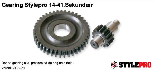 14/41 gearing