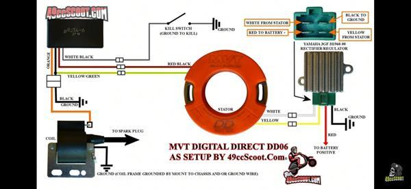 mvt dd ledninger til spændings regulatoren
