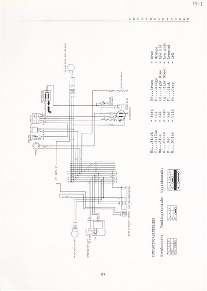 lednings diagram honda mini melody nt50