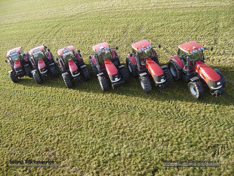 Salling Traktorservice samt Nordvestjysk Traktorservice - Martin Børsting Maskinstation har mange røde traktorer i maskinparken. Se borstingmartin.dk billede 3