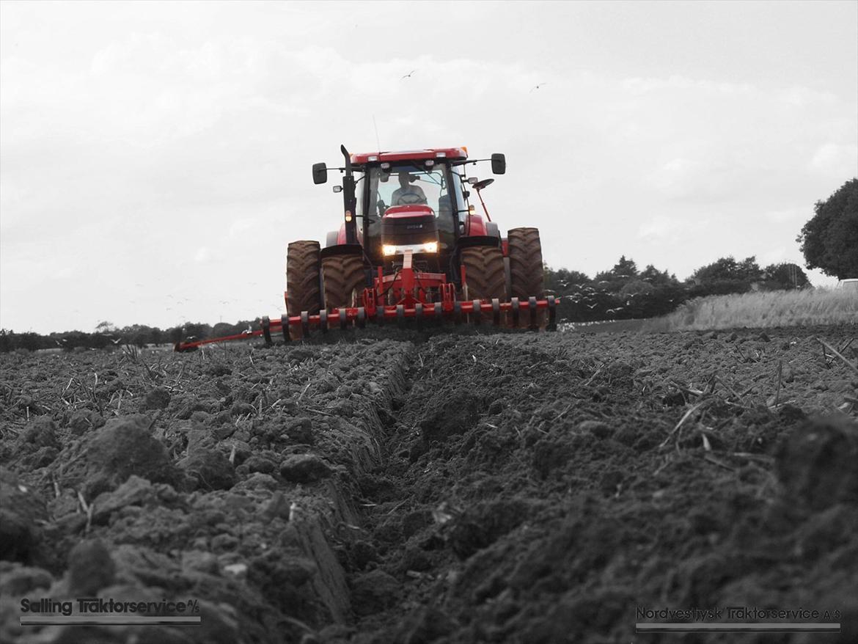 Salling Traktorservice samt Nordvestjysk Traktorservice - Case IH Puma 210 Multicontroller med HeVa såmaskine og frontpakker. Brdr. Madsen ved Balling på Salling. billede 6